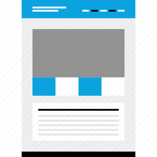 blog, mockup, news, website, wireframe icon