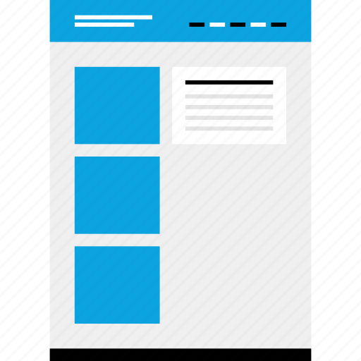 blog, mockup, one, post, website, wireframe icon