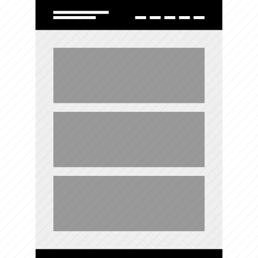 banners, gallery, mockup, website, wireframe icon