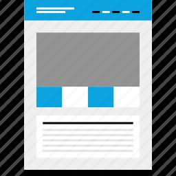 large, mockup, photo, website, wireframe icon
