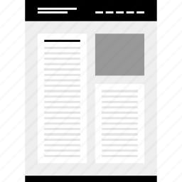 column, double, mockup, website, wire, wireframe icon