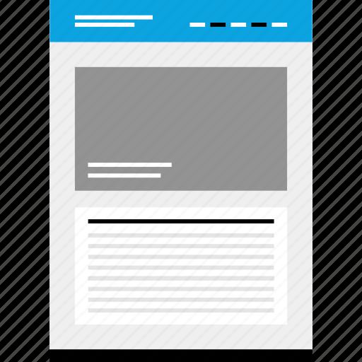 large, mockup, motto, photo, website, wireframe icon
