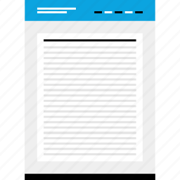document, mockup, page, website, wireframe icon