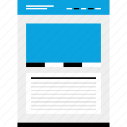large, mockup, photo, quicklinks, website, wireframe icon