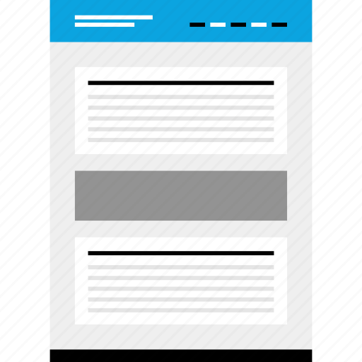 articles, mockup, news, post, two, website, wireframe icon