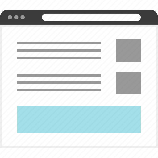 design, page, web, wireframe icon