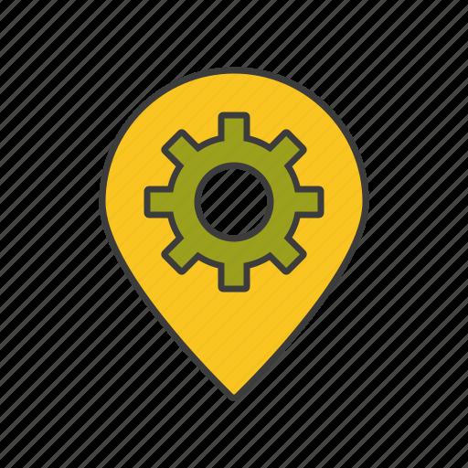 location, optimization, seo, tool, web icon icon