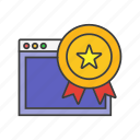 award, optimization, reward, seo, web icon, winner icon