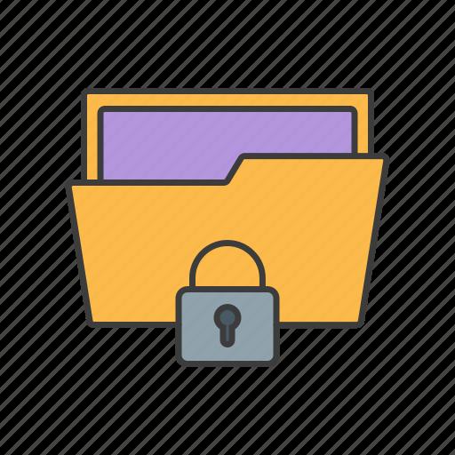 folder, lock, locked, page, seo, web icon icon