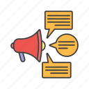announcement, business, marketing, seo, seo icon, web icon icon