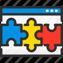 page, puzzle, quiz, ui, web, website