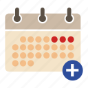add event, business, calendar, finance, plan, schedule, seo icon