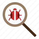 bug, fixing, guard, protect, safe, security, seo icon