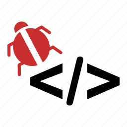 bug, code, development, html, script, seo, web icon