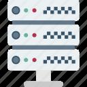 database, database engine, datacenter, datastore, server icon
