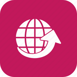 around the world, globe, travel, world icon