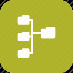 directories, folder, folders, network icon