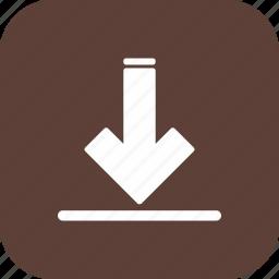 arrow, data, download, file, storage icon