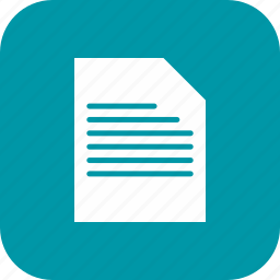 document, file, page, text icon