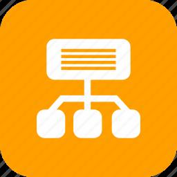 communication, internet, media, network, sitemap icon