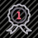 achievement, award, badge, medal, prize