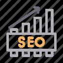 chart, graph, marketing, seo, statistics icon