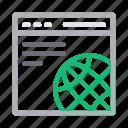 browser, internet, online, web, window icon