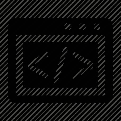 code, coding, development, html, programming, web coding icon