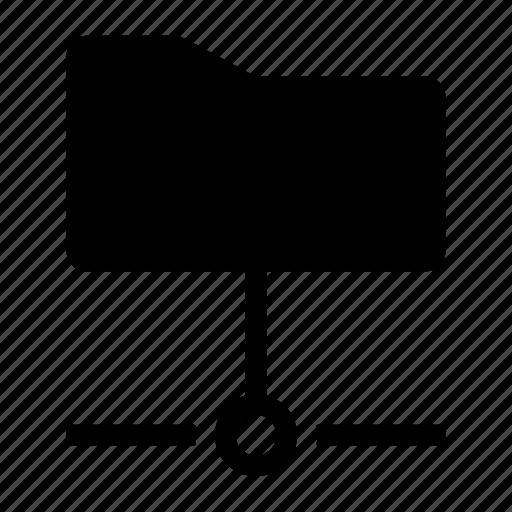 connected folder, file sharing, folder, server folder, server storage, sharing icon