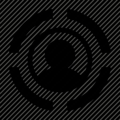 audience, marketing, seo, target, user icon