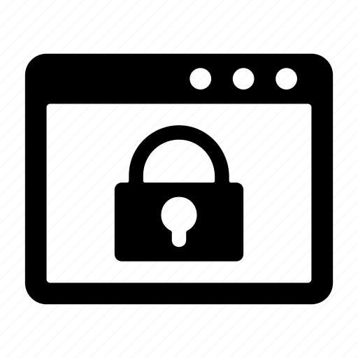 browser lock, locked, security, web lock, website, website lock icon