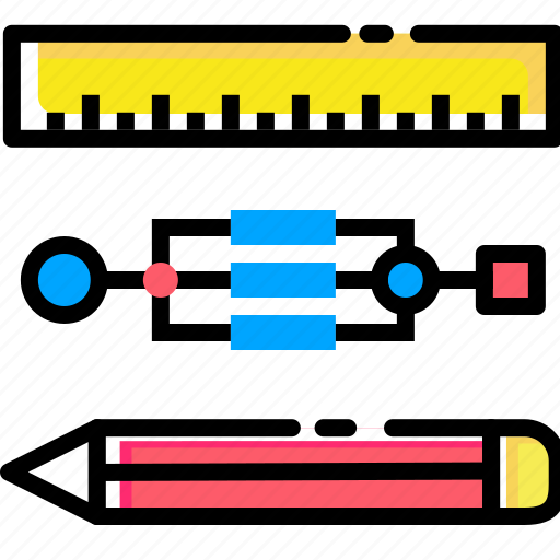 drawing, geometry, pen, pencil, ruler, stationary icon