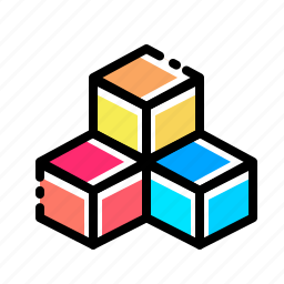 boxes, cube, cubic, design, inspiration, rubik, three icon