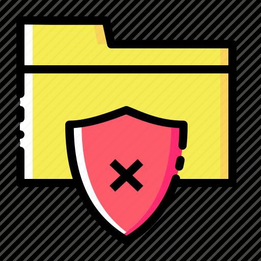 documents, folder, holder, security, seo, shield, vulnurability icon