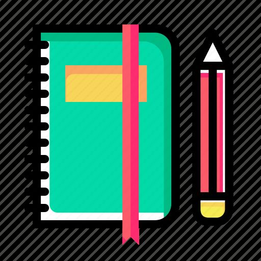 book, education, folder, notebook, office, pen, pencil icon