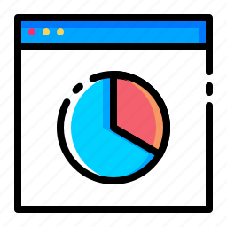 browser, internet, piechart, seo, web, website, window icon