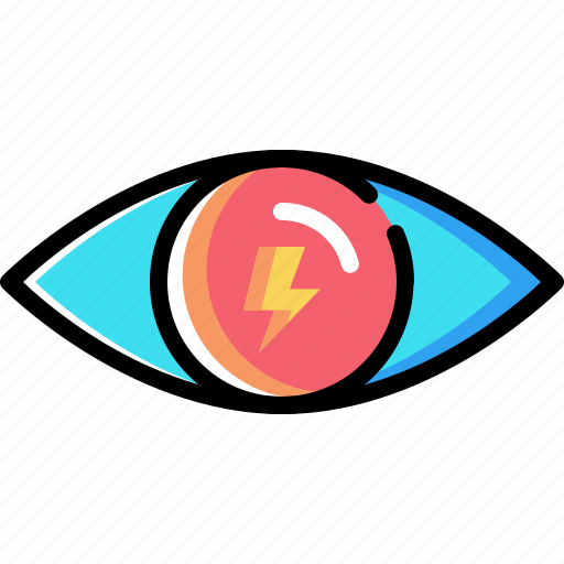 eye, internet, mission, search, thunder, view, vision icon