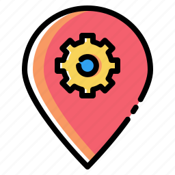 market, optimization, pin, place, preferences, settings icon