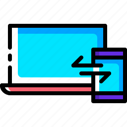 computer, design, mobile, responsive, seo, sync, synchronization icon