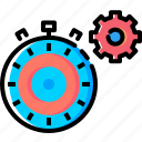 gear, optimization, page, response, settings, time, timer icon