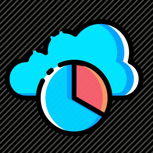 cloud, data, optimization, performance, pie chart, report, statics icon