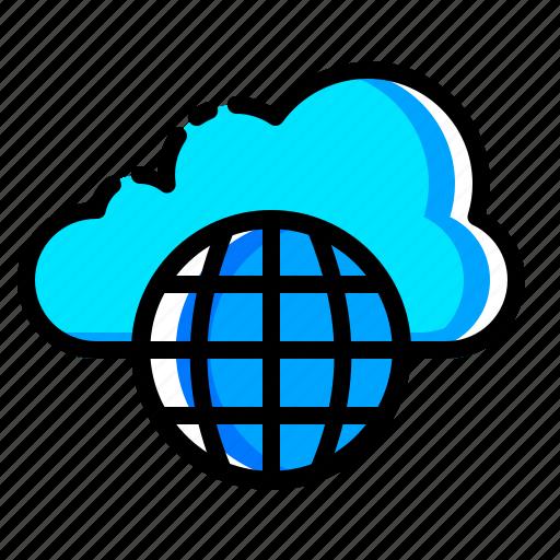 cloud, data, internet, safe, skydrive, storage, website icon