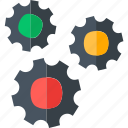 cogwheel, development, gear, setting