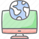 globe, hosting, internet, web