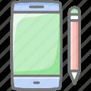 development, mobile, pencil, smartphone