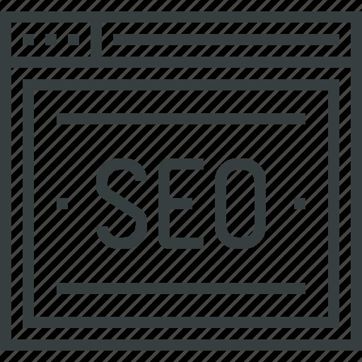 browser, internet, optimization, search, seo, web, website icon