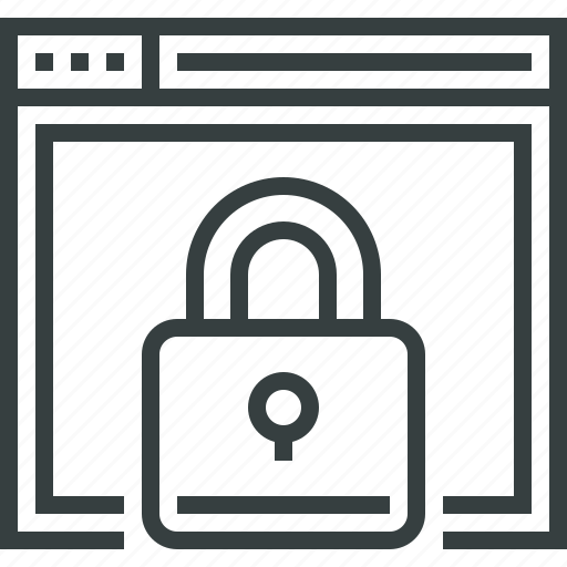 browser, internet, lock, protection, secure, security, web, website icon