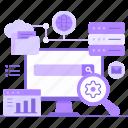 searching, data, storage, file, database, server, web service
