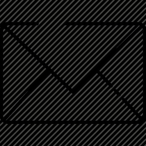 communication, envelope, file, grid, icon, letter, line, message, page, shape, text icon