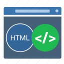 application, code, html, window icon